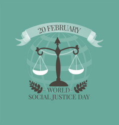 World Social Justice Day emblem vector