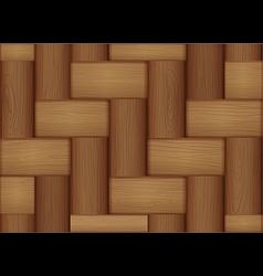 A topview of a wooden tile vector image vector image