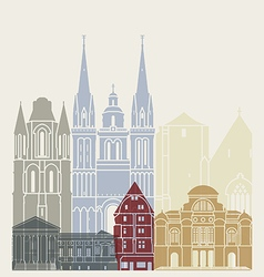 Angers skyline poster vector image vector image