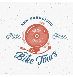Bycicle Bell Abstract Retro Label or Logo vector image vector image