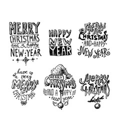 Merry christmas and a happy new year vector