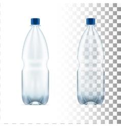 blank plastic blue water bottle transparent vector image vector image