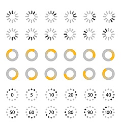 Different slyles of web loaders collection Flat vector image