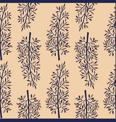 gentle flower seamless pattern with meadow herbs vector image vector image