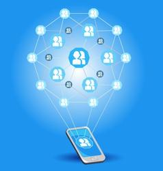 Mobile Social Networks vector image