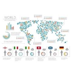 World people infographics human infographic on vector