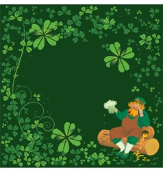 background with Leprechaun vector image vector image