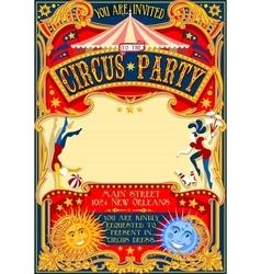 Circus 01 Invitation Vintage 2D vector image