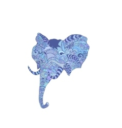 Doodle indian elephant vector image vector image