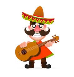 hot mexican logo vector image