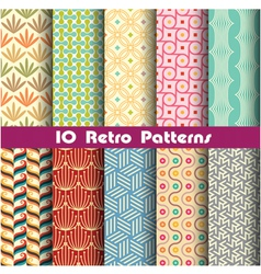retro pattern unit collection 2 vector image vector image
