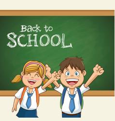back to school student uniform education vector image