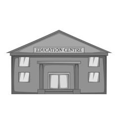 Education centre icon gray monochrome style vector