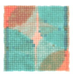 Overlapping Colorful Squares Background vector image