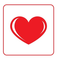 Red Heart icon vector image vector image