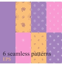 Set seamless pattern for decoration vector image vector image