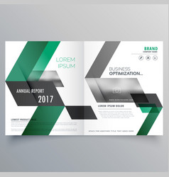 abstract bifold business brochure design template vector image
