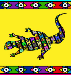Abstract colored image of lizard vector