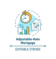 Adjustable-rate mortgage concept icon vector