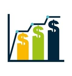 Bars statistics economy isolated icon vector