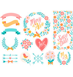 BIG Wedding set part 2 vector image