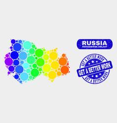 bright mosaic novosibirsk region map and grunge vector image