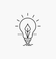 bulb idea electricity energy light line icon vector image