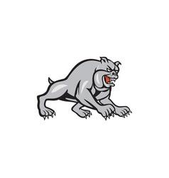 Bulldog dog mongrel prowling cartoon vector