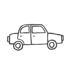 car doodle isolated on white vector image