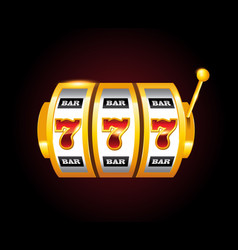casino golden slots machine with 777 vector image