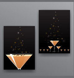 Chocolate cocktails sweet pounding page covers vector