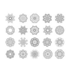 Circle ornament frame vector image