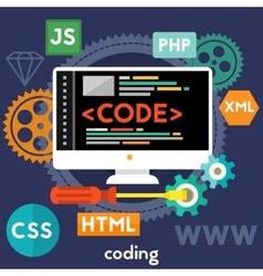 Coding Concept vector image vector image