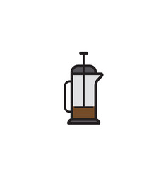 coffee press flat icon sign symbol vector image