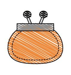 Color crayon stripe cartoon fashion women wallet vector
