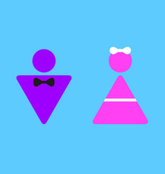 colorful sign icon for girls and boys vector image