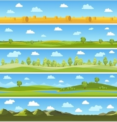 Country landscapes set vector