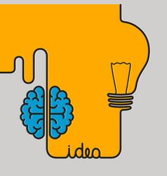 creative brainstorm concept business idea vector image