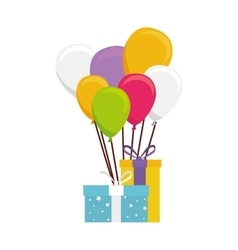 Cute balloons air party card vector
