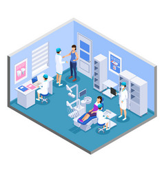 Dentist isometric composition vector