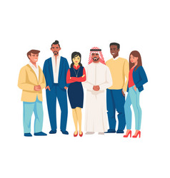 diverse business people multicultural team vector image