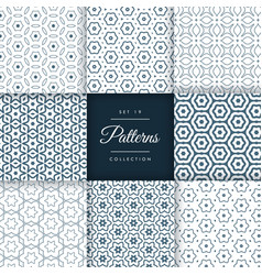 Elegant set of line pattern collection design vector