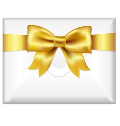Envelope With Golden Bow vector
