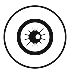 Eye icon simple style vector