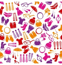 Fashion seamless pattern vector