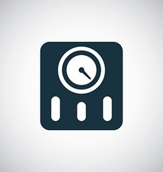 fitness scales icon vector image