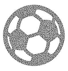 Football ball collage of dots vector