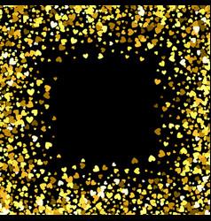 frame or border of random scatter hearts vector image