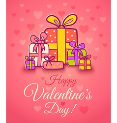 gifts pink love vector image