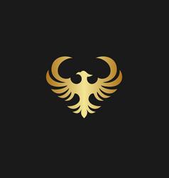 Golden phoenix logo vector